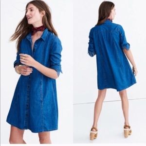 Madewell Denim A-Line Dress